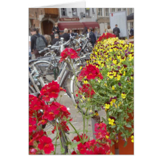 Bicycles, Historic City Centre of Bruges, Belgium Card