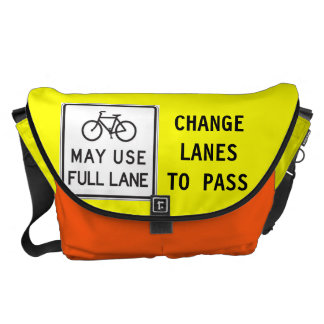 Bicycles May Use Full Lane Commuter Bag