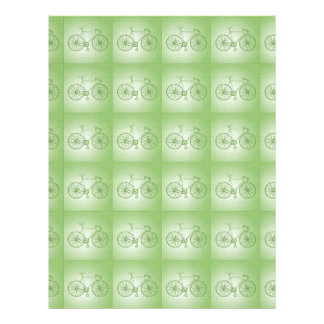 Bicycles pattern 21.5 cm x 28 cm flyer