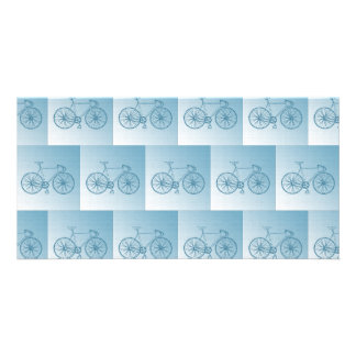 Bicycles pattern photo cards