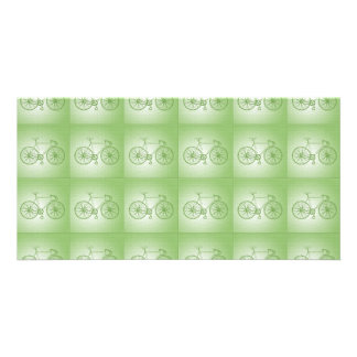 Bicycles pattern picture card