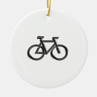 Bicycles Round Ceramic Decoration
