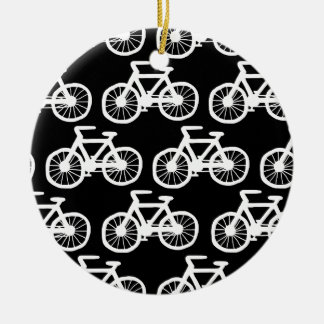 Bicycles Round Ceramic Decoration