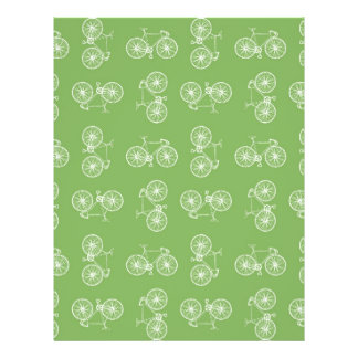 Bicycles seamless pattern full color flyer