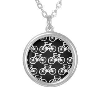 Bicycles Silver Plated Necklace