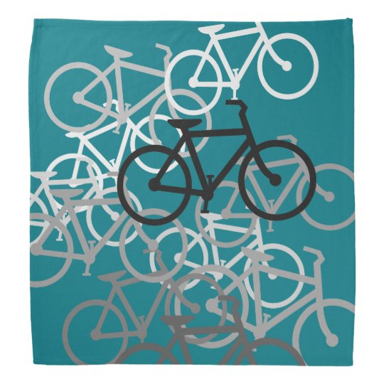 Bicycleswith your background colour. bandana