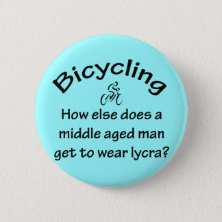 Bicycling 6 Cm Round Badge