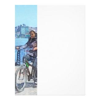 Bicycling Along Pier A Hoboken NJ Full Color Flyer