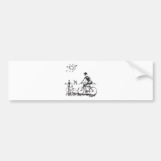 Bicycling Bike Sketch Bumper Sticker