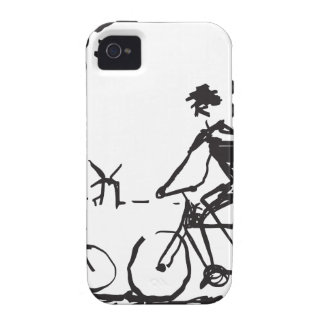 Bicycling Bike Sketch Case-Mate iPhone 4 Cover