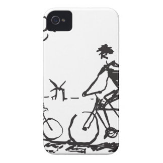 Bicycling Bike Sketch iPhone 4 Cover