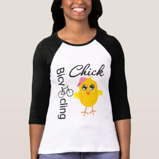 Bicycling Chick Tee Shirt