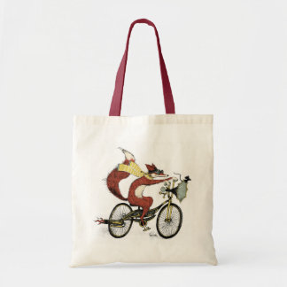 Bicycling Fox Tote by Sarah Watts