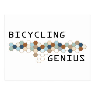 Bicycling Genius Postcard