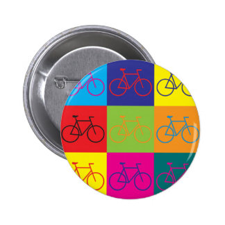 Bicycling Pop Art 6 Cm Round Badge