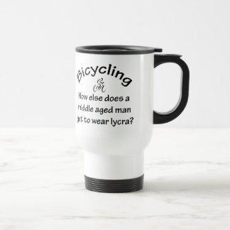 Bicycling Stainless Steel Travel Mug