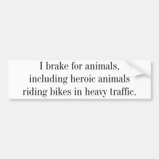 Bicycling support bumper sticker