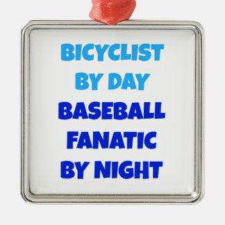 Bicyclist Baseball Fanatic Christmas Ornament