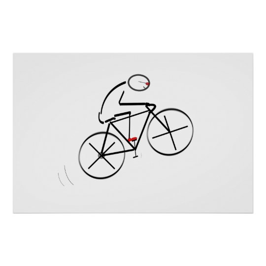 Bicyclist Birthday Poster