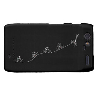 Bicyclist going over the hill motorola droid RAZR case