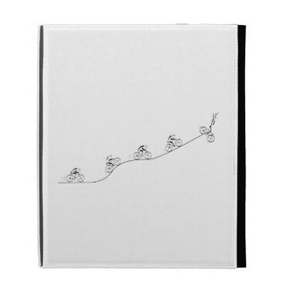 Bicyclist going over the hill iPad case