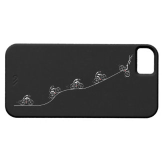 Bicyclist going over the hill case for the iPhone 5