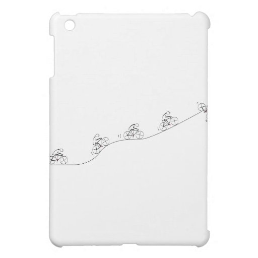 Bicyclist going over the hill iPad mini cases
