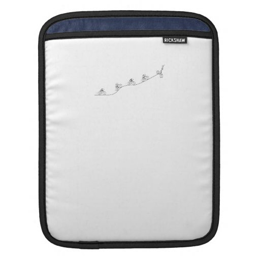 Bicyclist going over the hill iPad sleeves