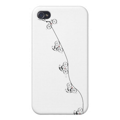 Bicyclist going over the hill iPhone 4 cover