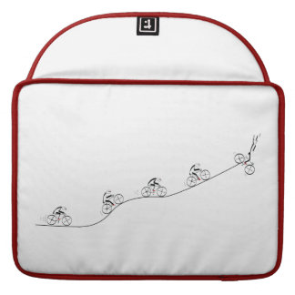 Bicyclist going over the hill MacBook pro sleeve