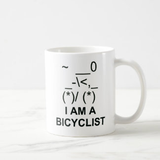 Bicyclist Symbol Coffee Mug