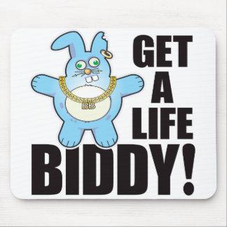 Biddy Bad Bun Life Mouse Mat