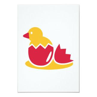 "Biddy bird egg 3.5"" x 5"" invitation card"