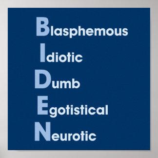 Biden Acronym Poster