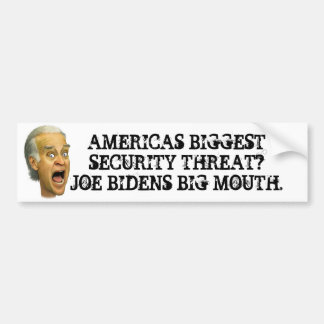Biden SECURITY THREAT / obama socialist joker Bumper Sticker