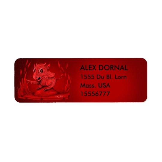 BIDI ALIEN EVIL CARTOON  Return Address Labels