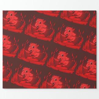 "BIDI MONSTER ALIEN CARTOON Wrapping Paper 30"" x 60"