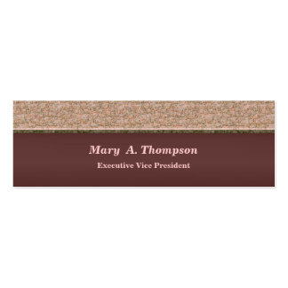 Biege Brown Texture Business Card