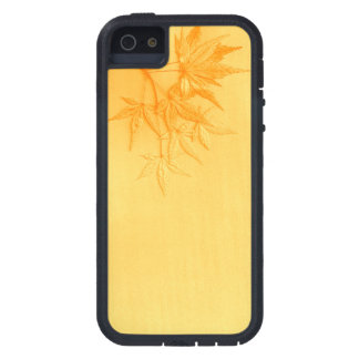 Biege Japanese Maple leaves. Case For The iPhone 5
