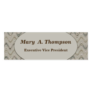 Biege wavy lines Double-Sided mini business cards (Pack of 20)