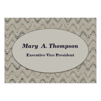 Biege wavy lines large business cards (Pack of 100)
