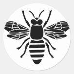 biene bee wasp bumble wespe hummel runder sticker
