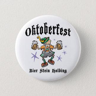 Bier Stein Holding Oktoberfest 6 Cm Round Badge