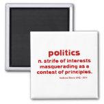 Bierce on Politics Fridge Magnet