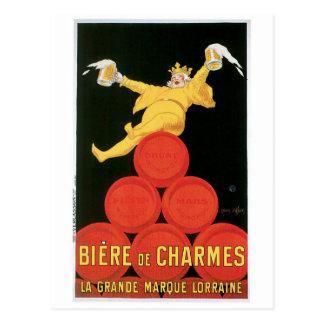 Biere De Charmes Vintage Drink Ad Art Postcard
