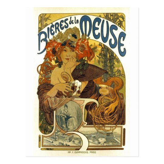 Bieres de la meuse vintage french poster art