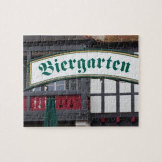 Biergarten sign, Germany Jigsaw Puzzle