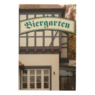 Biergarten Sign, Germany Wood Wall Art