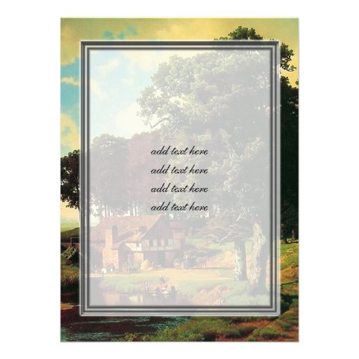 Bierstadt Albert, A Rustic Mill Personalized Announcement