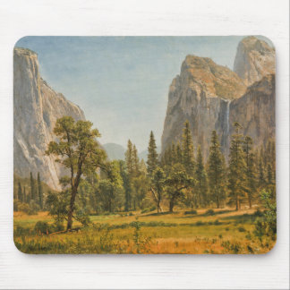 Bierstadt Bridal Veil Falls, Yosemite Valley Mouse Pad